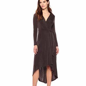 ASTR the label Melonie Wrap Long Sleeve Midi Dress